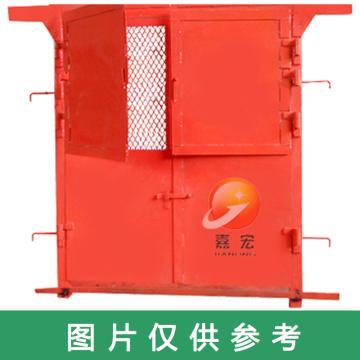 嘉宏 钢制推拉防火栅栏两用门,1.5m×1.8m(宽×高)