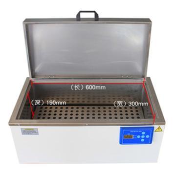 助蓝科技 恒温水浴槽,内槽600mm*300mm*190mm,HH-W600