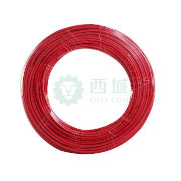 德力西DELIXI 聚氯乙烯绝缘电线,BV-450/750V-1*4 红色 100米,BV450V1X4R100