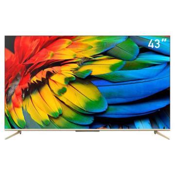 TCL电视机,43D9 43寸原色高色域4K超高清HDR全面屏防蓝光免唤醒语音无线网络液晶 2020新款 D9系列