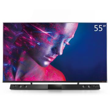 TCL電視機,55C10 55英寸液晶電視機 4k超高清 量子點全面屏 智慧屏 前置獨立音響 157%超高色域