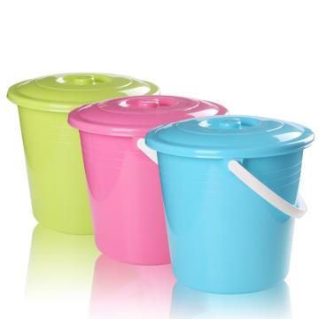 茶花 雅致提桶(含盖),0236A 36CM 随机色 单位:件