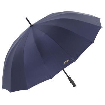 天堂伞,10009ELCJ 加大加固16根伞骨碰击布黑胶自开商务直杆晴雨伞 65cm*16k 藏青色