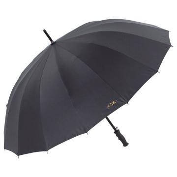 天堂伞,10009ELCJ 加大加固16根伞骨碰击布黑胶自开商务直杆晴雨伞 65cm*16k 黑色