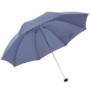 天堂伞,307E 晴雨伞藏青折叠加大雨伞拒水一甩干商务伞 57cm*8k 兰灰