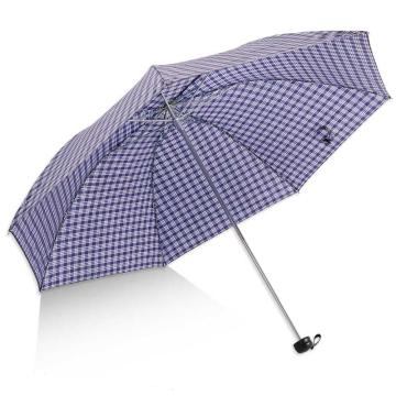 天堂伞,339S 苏格兰风格格子三折钢伞晴雨伞 57cm*7k F藏青