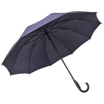 天堂伞,长柄伞直杆伞加大70*10K自开双人伞晴雨伞商务伞 深藏青193E