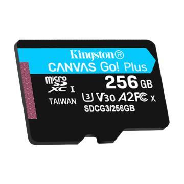 金士頓存儲卡,SDG3 256GB U3 V30 A2 4K 極速版 TF(Micro SD)存儲卡 讀速 170MB/s 寫速90MB/s