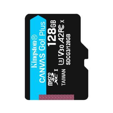 金士頓存儲卡,SDG3 128GB U3 V30 A2 4K 極速版 TF(Micro SD)存儲卡 讀速 170MB/s 寫速90MB/s