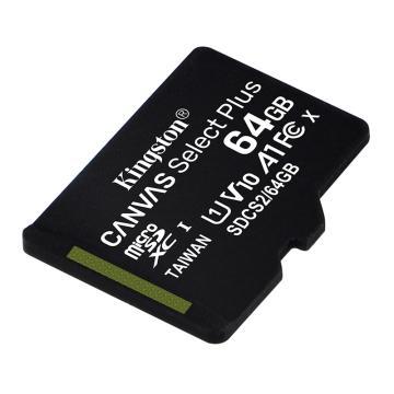 金士頓存儲卡,SDCS2 64GB 讀速100MB/s U1 A1 V10 TF(MicroSD)存儲卡 高品質拍攝