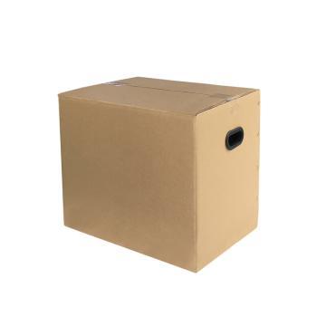 安賽瑞 搬家紙箱,特硬五層瓦楞紙,70×50×50cm,帶塑料扣手(5個裝)