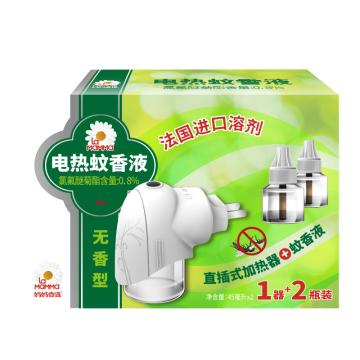 媽媽壹選 電熱蚊香液無香型1器+2瓶蚊香液45ml*2 單位:盒