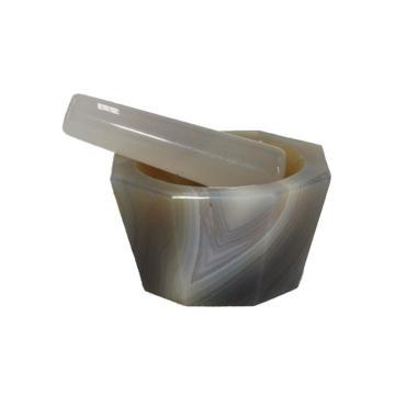 芯硅谷 深型玛瑙研钵,带研磨棒,外径×内径:150×120mm,内深:50mm,1只