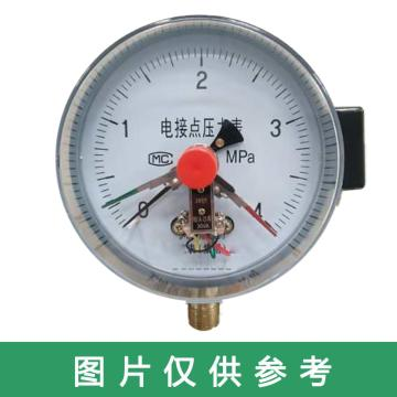 上儀 電接點壓力表YXC-100,全碳鋼材質,徑向不帶邊,Φ100,0~0.4MPa,M20*1.5