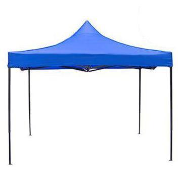 西域推薦 戶外遮陽帳篷,3×3米*2.4米高,藍色,不含圍布