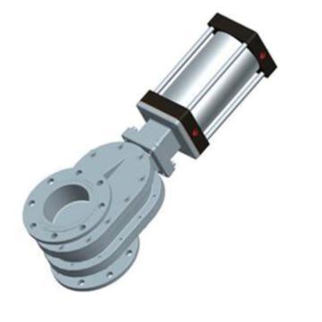 常州凱潤 鎢合金雙閘板氣鎖耐磨進料閥 SZ644WJ-10Q,DN250