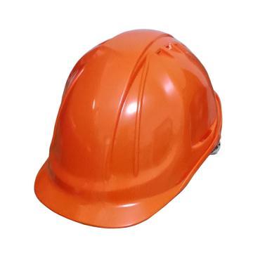 代爾塔DELTAPLUS 安全帽,102106-OR,M型安全帽 帶透氣孔 橙色 旋鈕式 含下顎帶