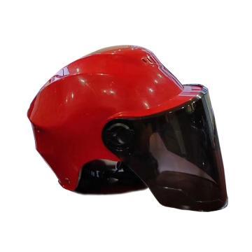禄华 电动车头盔,ABS材质,红色
