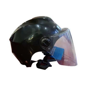 禄华 电动车头盔,ABS材质,黑色