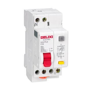 德力西DELIXI 微型剩余电流保护断路器 DZ47PLE 1P+N 20A D型 30mA AC DZ47PLED20