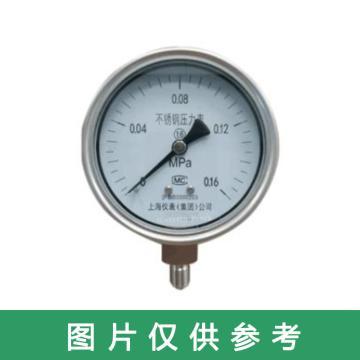 上仪 压力表 Y-60BF,0-1MPa M16×1.5,径向