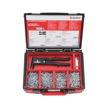 伍爾特WURTH,5964093600,盲鉚釘及拉鉚工具701件套