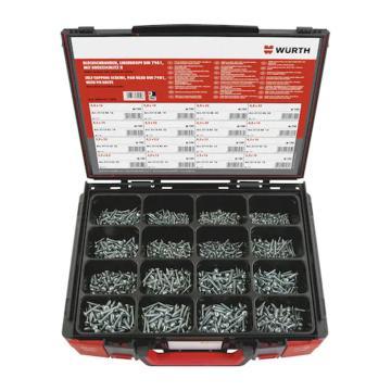 伍爾特WURTH,5964011500,十字槽盤頭自攻螺釘組套-DIN7981-H2-(A2K)-1600P-SYS