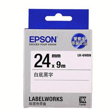 愛普生 原裝色帶,LK-6WBN 24mm x 9m白底黑字 單位:個