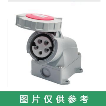 德力西 工业插座,DHADEP21152RY,DEP2-1152 IP67 16A 5芯 415V工业明装插座一体式