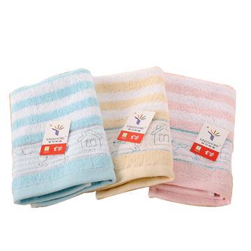 金號 純棉方巾,48g 34*35cm RF262H,全棉薄款洗臉小毛巾 柔軟吸水 擦汗巾