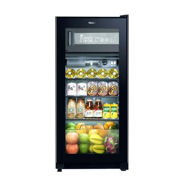 海尔 120L多温制冰冷藏冰吧冷柜立式单门酒柜,LC-120DF,黑色