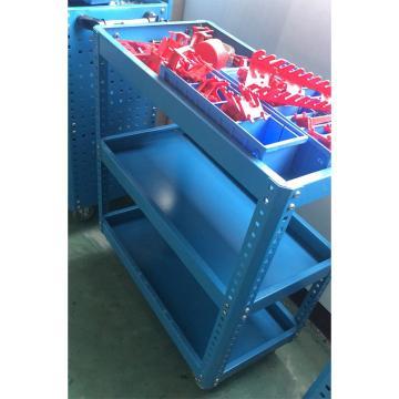 啟耀 三層工具車,高660*寬300*長600,第一層帶隔板,每層承重200-300Kg,隔板厚度1.2,立柱2,4寸靜音輪