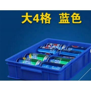 富成防務 分格周轉箱,長*寬*高(800mm*400mm*110mm)內部帶卡槽,4格平分,隔板可插拔