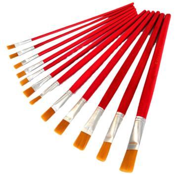 卫庄 工业油漆排刷,尼龙油画笔 3#,50支/包