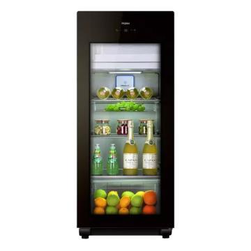 海爾 158L大容量立式紅酒柜恒溫保鮮柜,LC-158DH,黑色