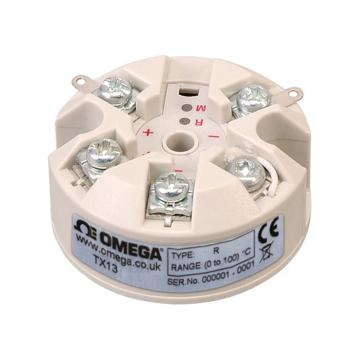 OMEGA RTD顶部安装温度变送器,热电偶变送器(K,J,N,E,T,R,S和mV输入) TX13