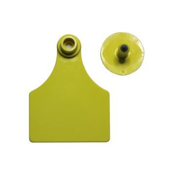 蓝创 中号分体式牛耳标1#+5#,免费定制,可选颜色:黄、橙、红、蓝、绿、白