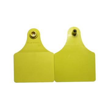 蓝创 大号分体式特殊牛耳标 3#+6#,免费定制,可选颜色:黄