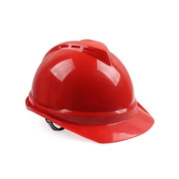梅思安MSA 安全帽,10172479,V-Gard ABS豪华型安全帽 红 超爱戴帽衬 D型下颏带