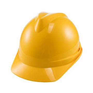 世达 V顶ABS标准安全帽-黄色,TF0201Y