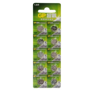 超霸 紐扣型堿性電池,189-LY 10粒/卡 單位:卡