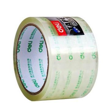 得力 透明款封箱膠帶,48mm*40y 寬膠帶 透明膠紙6卷裝 30201 單位:筒