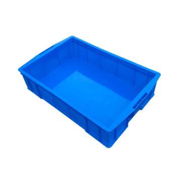 西域推薦 無分隔周轉箱,外尺寸:585×380×138mm,內格尺寸:525×350×128mm,藍色