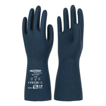 兰浪 氯丁橡胶手套,掌部厚度0.75mm,摩洛哥蓝,SR300-8