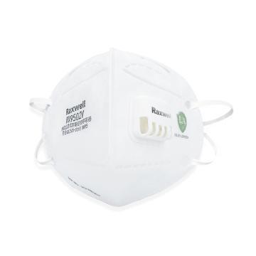 Raxwell 防塵口罩,RX9502V 帶閥,KN95 折疊型頭帶式,25個/盒