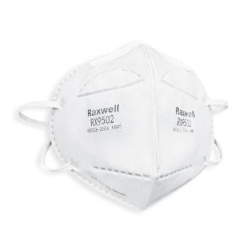 Raxwell 防尘口罩,RX9502,KN95 折叠型头带式,50个/盒