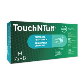 安思爾Ansell 無粉一次性手套,92-600-M,Touch N Tuff? 一次性丁腈手套 無粉,100只/盒