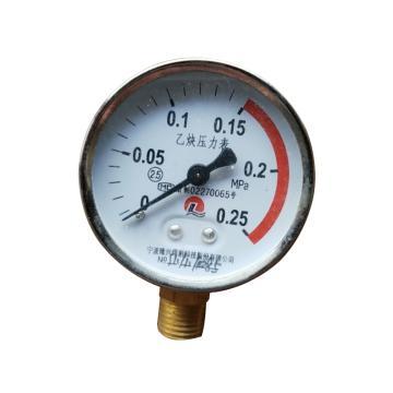 隆興 乙炔壓力表表頭,¢60/0~0.25Mpa/M14*1.5