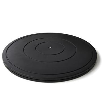 安赛瑞 打包转盘,ABS+内部钢珠,黑色,直径40cm,承重约50KG(个),26070