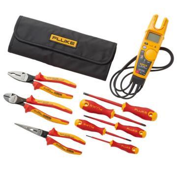 福祿克/FLUKE T6非接觸式電壓鉗表+絕緣手動工具入門工具包(5把絕緣螺絲刀和3把絕緣鉗子),IBT6K
